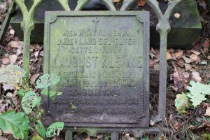 10 inscription board of August Klenke tombstone
